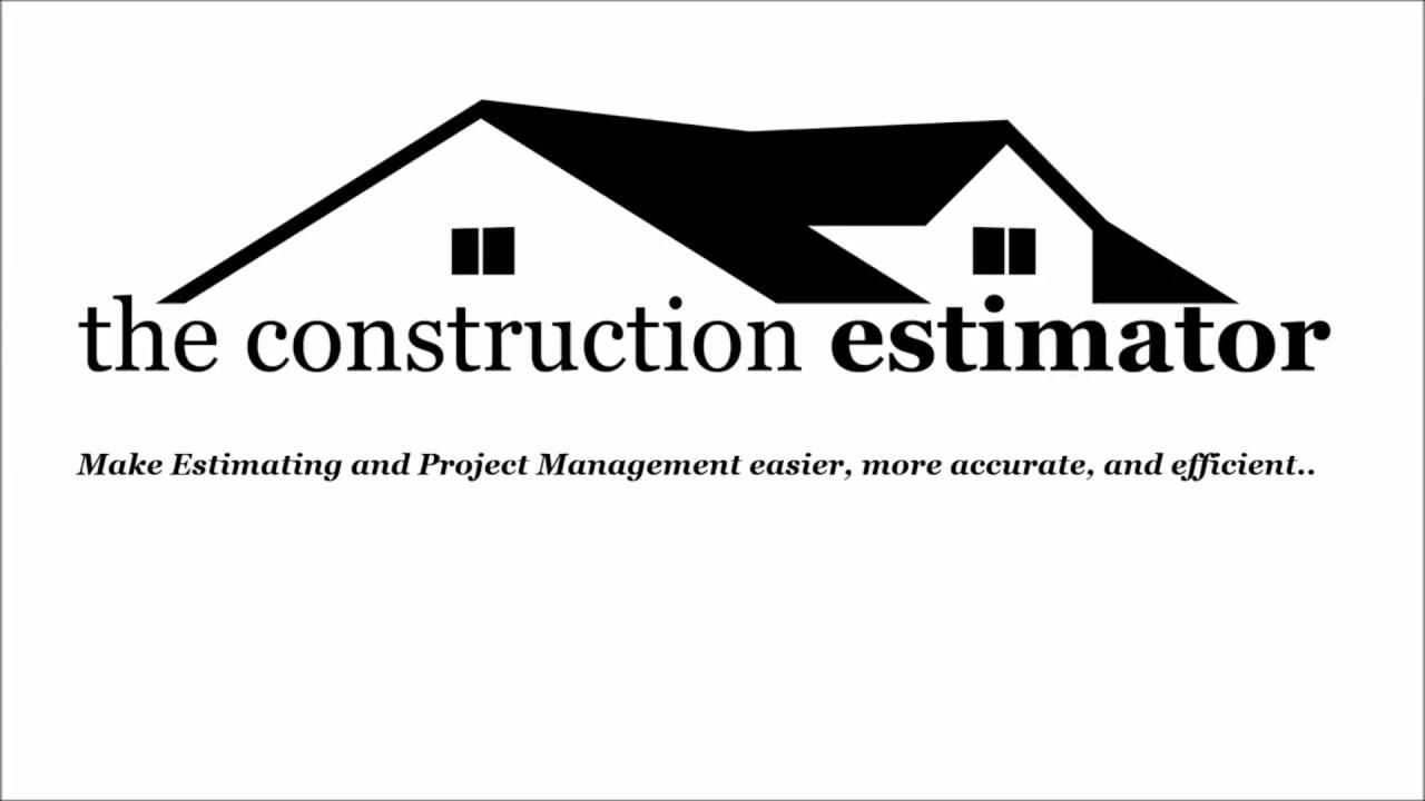 the construction estimator premium excel estimating template youtube