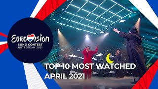 TOP 10: Most watched in April 2021 - Eurovision Song Contest