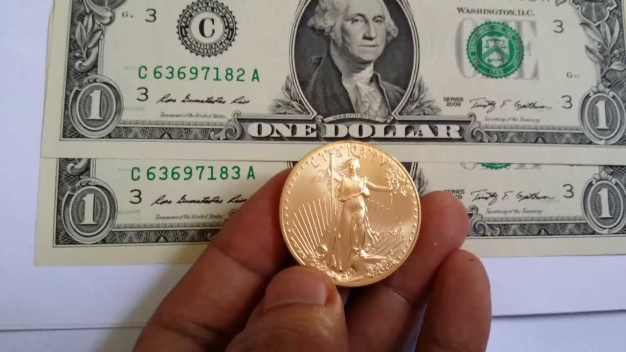 One Troy Ounce American Gold Eagle Coin 1998 Youtube