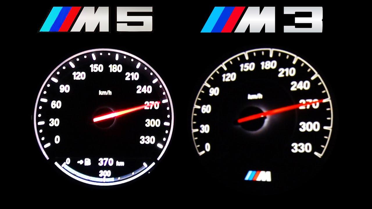 Bmw M5 Vs Bmw M3 F80 Acceleration 0 270 Autobahn Onboard V8 Sound