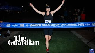 Seven marathons in seven days: British runner sets record in global race