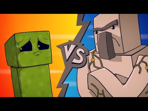 EPIC MINEQUEST 4  Creeper VS Iron Golem  Sam Green Media