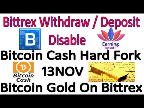 Bittrex BTC Withdraw/Deposit Disable - Bitcoin Cash Hard Fork 13 Nov - In Hindi