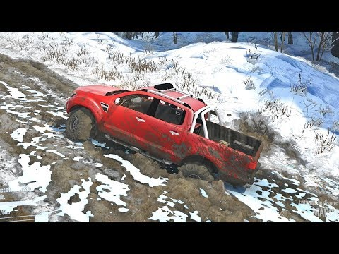 Ford Ranger 4X4 Offroad | Ruta Por Mapa Nevado Con Mucho Lodo
