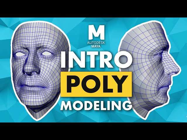 Introduction to Poly Modeling in Maya - 3D Tutorial