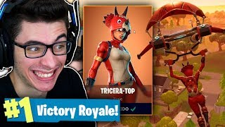 I BOUGHT THE LEGENDARY SKIN TRICERA-TOP AND I KILLED GENERAL! Fortnite: Battle Royale