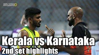 Kerala vs Karnataka # 68th senior national volleyball championship held at Bhubaneswar # 2nd set hig