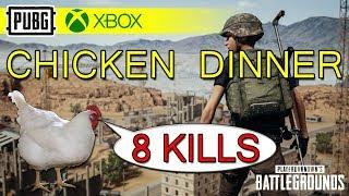 PUBG Xbox One Solo - Chicken Dinner - 8 Kills!
