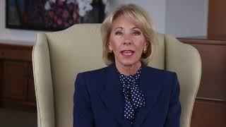 Message from U.S. Secretary of Education Betsy DeVos