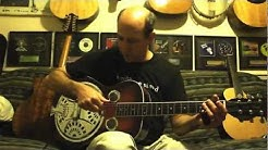 Slide Guitar Lesson - #1 Open D with Resonator - Richard Gilewitz