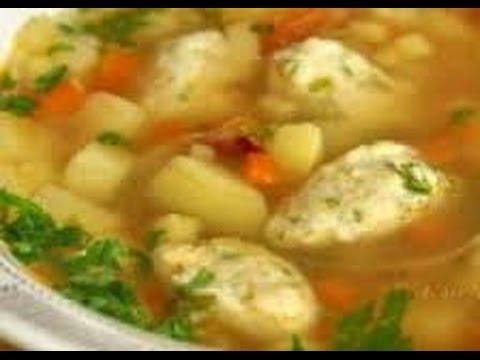 Вкусный суп с галушками (клецками)
