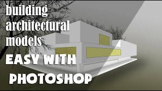 How to create a 3d model of the house in photoshop [tutoriel] [hddrawhouse]