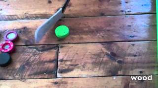 Green Biscuit, Flypuck, Street Hockey Puck And Normal Black Puck Comparison