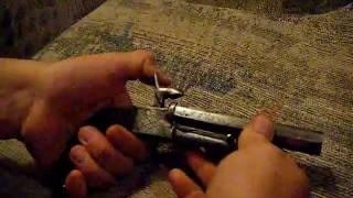 Antique Double Barrel Pin Fire Civil War Boot Pistol 11MM 12mm