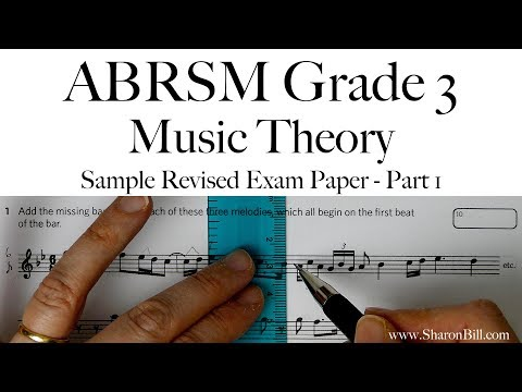 ABRSM Music Theory Grade 3 Sample Revised Exam Paper Part 1 With Sharon Bill