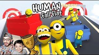 Los Minions en Mundo de Plastilina | Aventuras en Human Fall Flat | Juegos Karim Juega