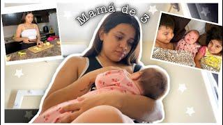 MI DÍA REAL COMO MAMÁ JOVEN DE 3😮💨 / Bebé de 1 mes y 2 niños pequeños