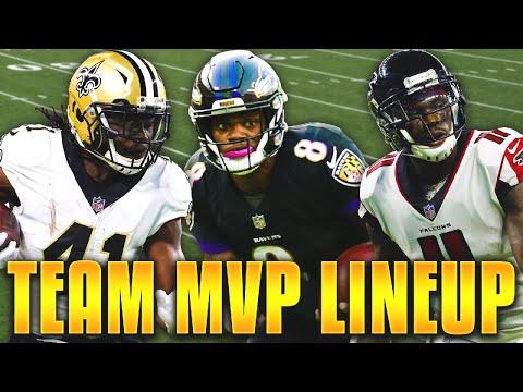 ALL TEAM MVP LINEUP! LAMAR JACKSON, ZEKE, & MORE! Madden 19 Ultimate Team