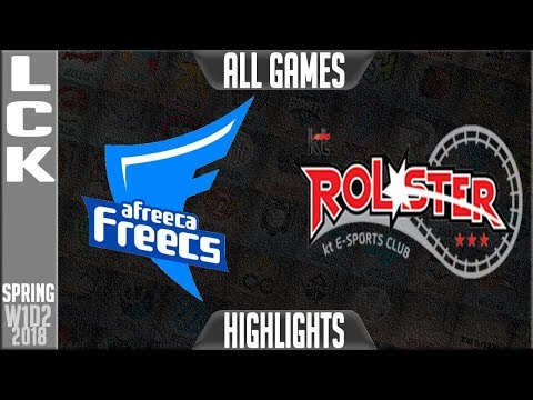 AFS vs KT Highlights ALL GAMES | LCK Spring 2018 S8 W1D2 | Afreeca Freecs vs KT Rolster