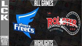AFS vs KT Highlights ALL GAMES | LCK Spring 2018 S8 W1D2 | Afreeca Freecs vs KT Rolster