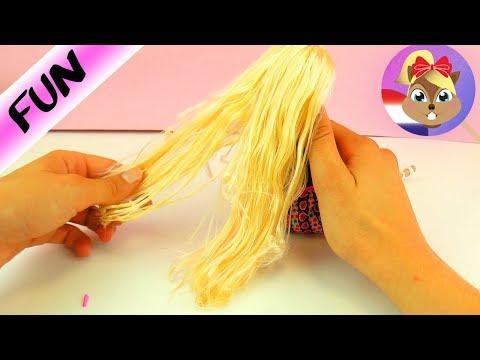 Barbiehaar weer mooi maken   Kapot Barbiehaar of haar met klitten weer verfraaien