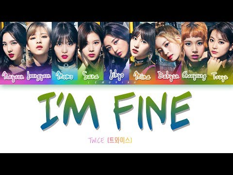 How Would TWICE Sing - BTS 'I'm Fine' (Female Ver.) [Color Coded Lyrics/Han/Rom/Eng]