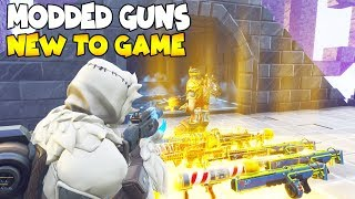 So He Has New Modded Guns New Buzz 😱 (Scammer Gets Scammed) Fortnite Save The World