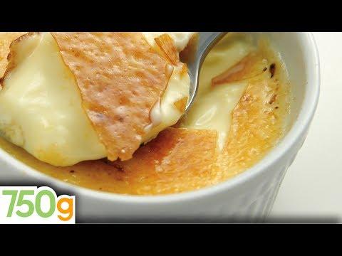 Recette de Crème brûlée à la vanille  - 750 Grammes