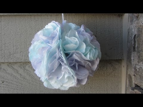 How to Make a Coffee Filter Flower Hydrangea Pom Pom