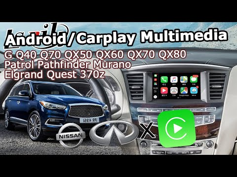 How To Install Carplay Android Video Interface And Remove Dash Panel On Infiniti QX60 2016 By Lsailt