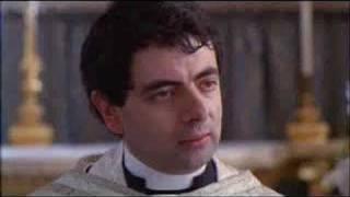 Mr Bean as priest