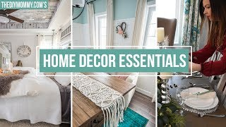 5 HOME DECOR ESSENTIALS YOU NEED | The DIY Mommy