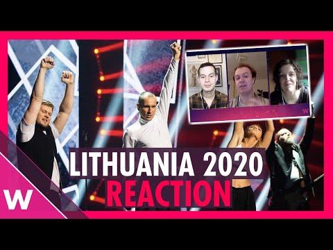 "Lithuania Eurovision 2020 Reaction   The Roop ""On Fire""    Pabandom Iš Naujo Winner"