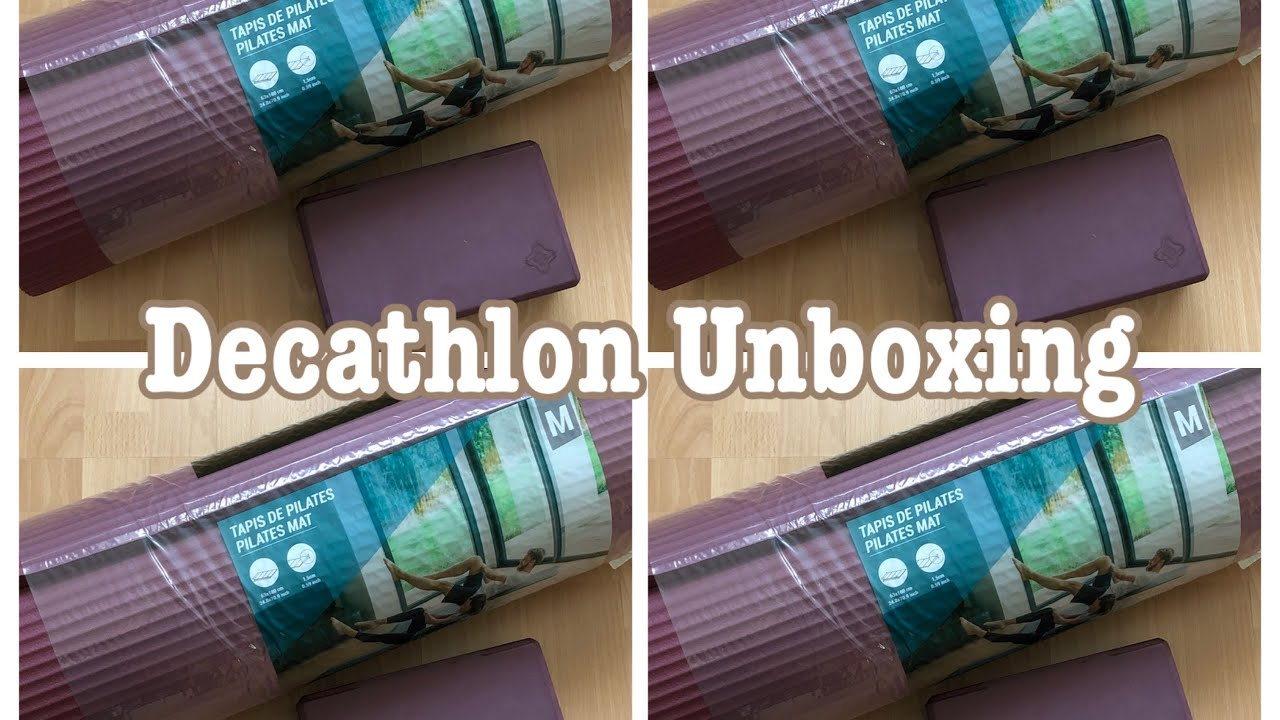 decathlon unboxing pilates mat yoga block flora simon