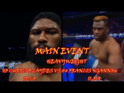 UFC BEIJING CHINA CARD UFC FIGHT NIGHT 141 CURTIS BLAYDES VS FRANCIS NGANNOU 2