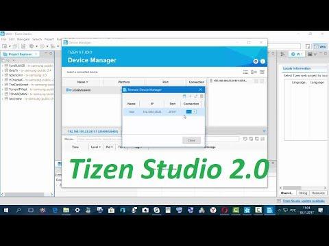Установка виджетов на Smart tv Tizen Работа с IDE 2.0