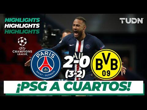 Highlights | Psg 2 (3) – (2) 0 Dortmund | Uefa Champions League – 8vos Vuelta | Tudn
