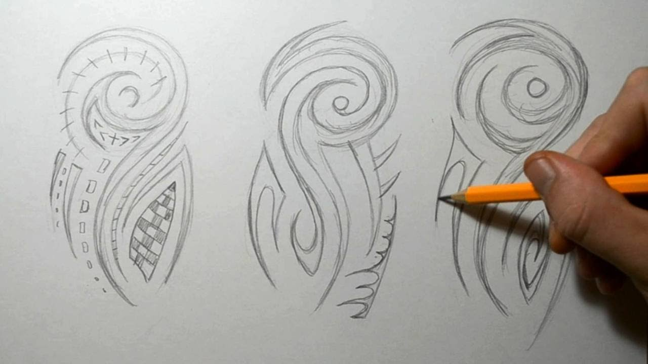 f7909ce6b Tribal Half Sleeve Sketching - Tattoo Designs Ideas - YouTube
