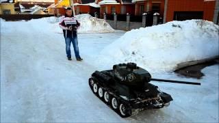 RC Т 34 85 Big scale(Полностью металлическая радиоуправляемая модель танка Т-34 в масштабе 1:4. Вес 200 кг. Имеет бензиновый четырех..., 2015-03-03T17:24:47.000Z)