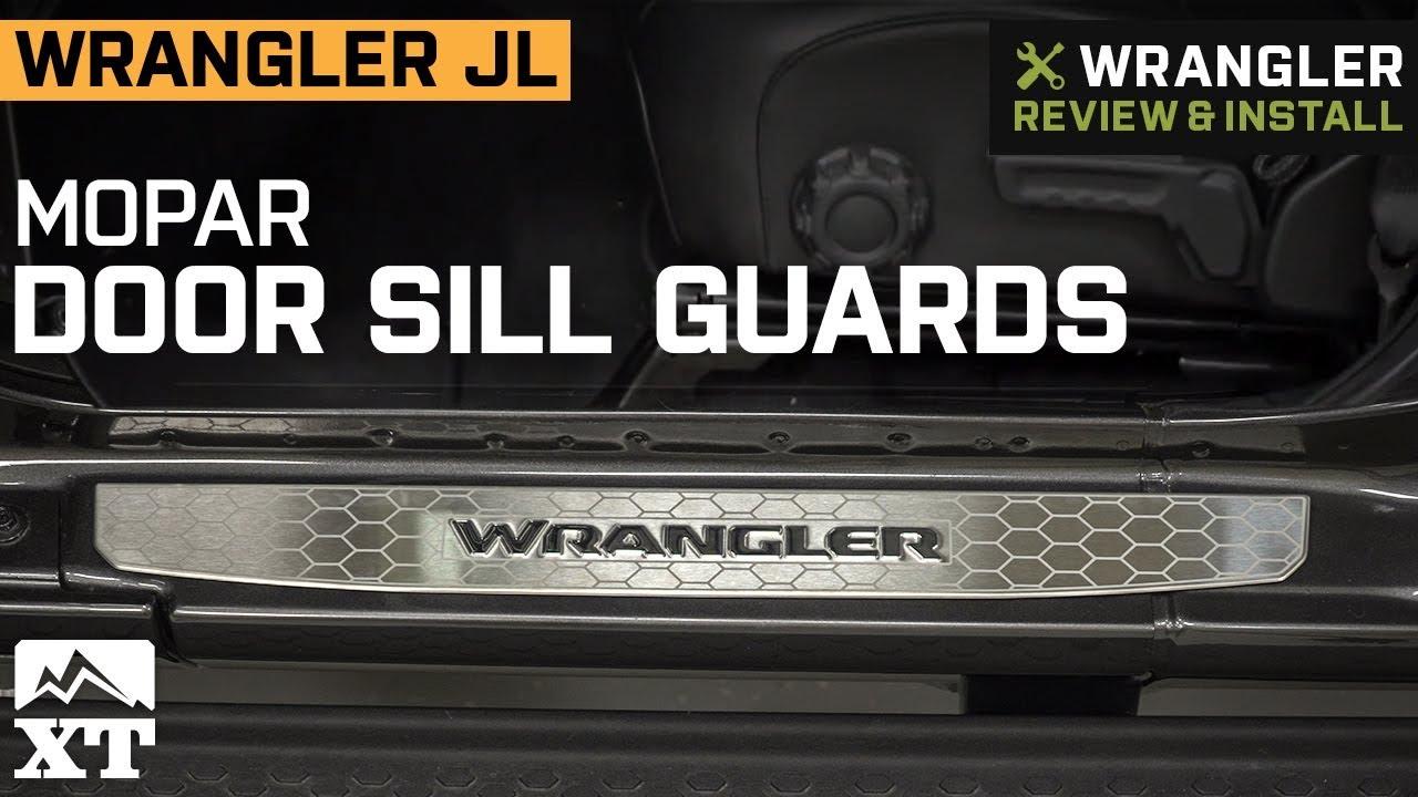 Jeep Wrangler JL Mopar Stainless Steel Door Sill Guards (2018 4 Door)  Review & Install
