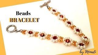how to make a beaded bracelet in 10 minutes  EASY FAST ELEGANT