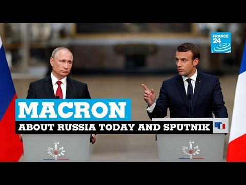 Thumbnail: Macron slams RT, Sputnik news as 'lying propaganda' at Putin press conference