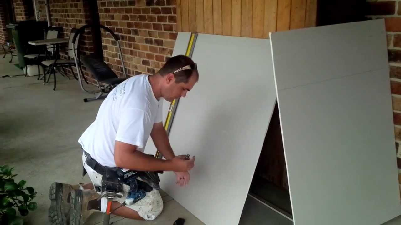 How To Cut Gyprock Drywall Youtube