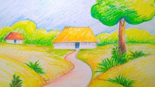 scenery drawing easy natural class drawings nature tutorial draw children sketch learn sky cool