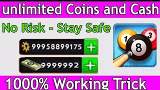 Latest 8Ball Pool Unlimited Coins and Dollar 100 % Working!! 2018 & 2019
