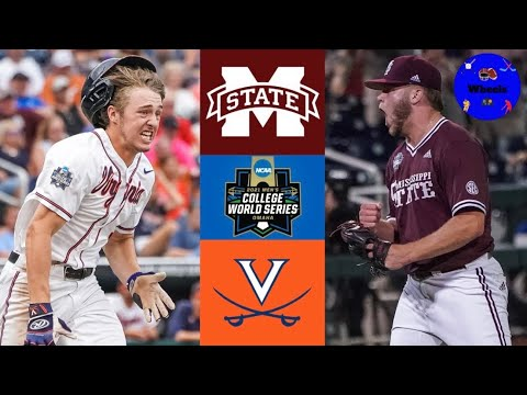 #7 Miss State vs Virginia (AMAZING GAME!) | College World Series | 2021 College Baseball Highlights |