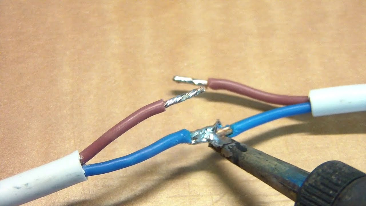 How to repair a power cord that has been dog chewed. - YouTube