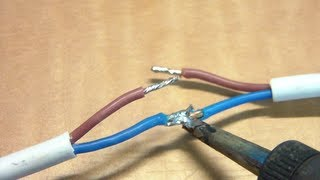 How to repair a power cord that has been dog chewed.