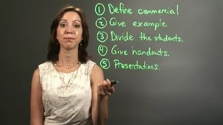 How To Make A Commercial Lesson Plan For A Middle School : Lesson Plans For Teachers