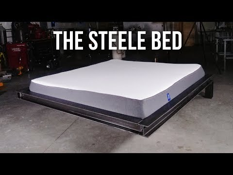 MAKING THE INDUSTRIAL STEELE BED!!!
